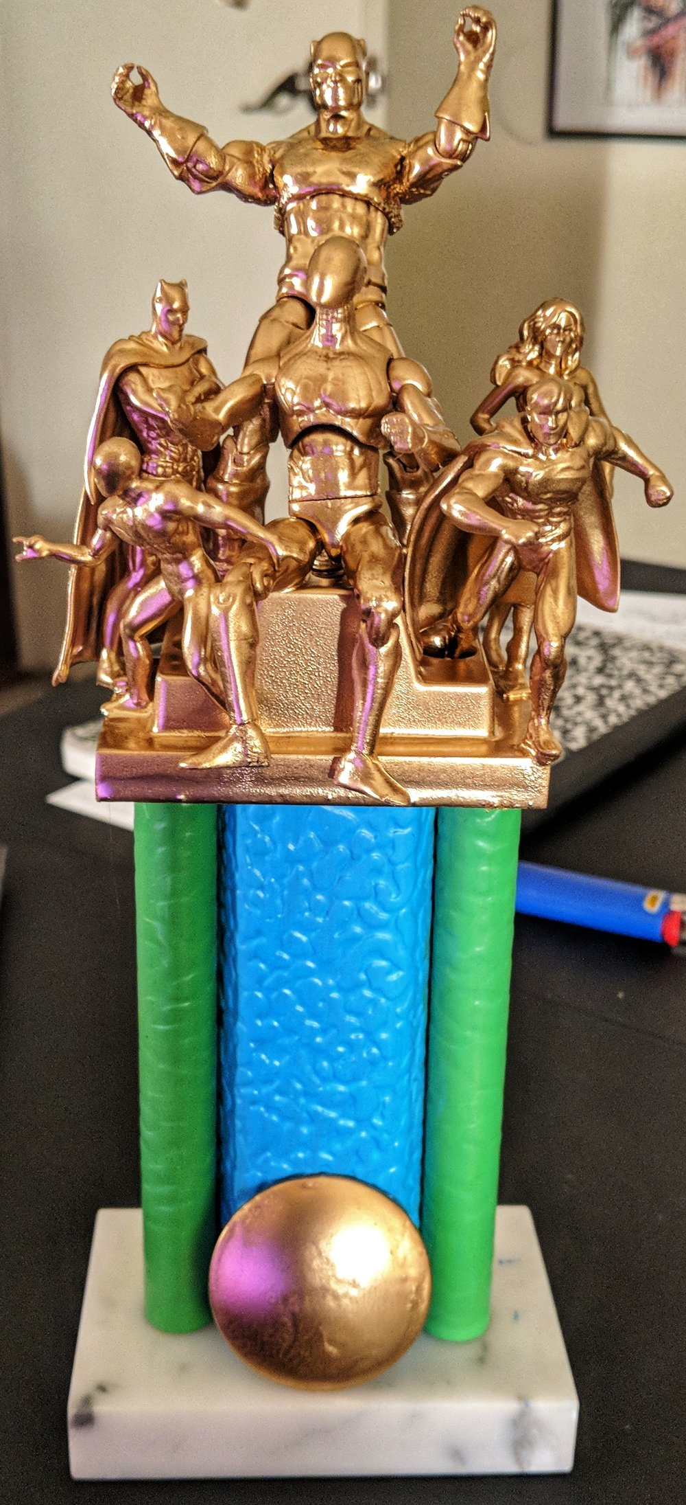 - You can't just win bragging rights. You need an awesome trophy!(Trophy lovingly made by Becca Thornton)