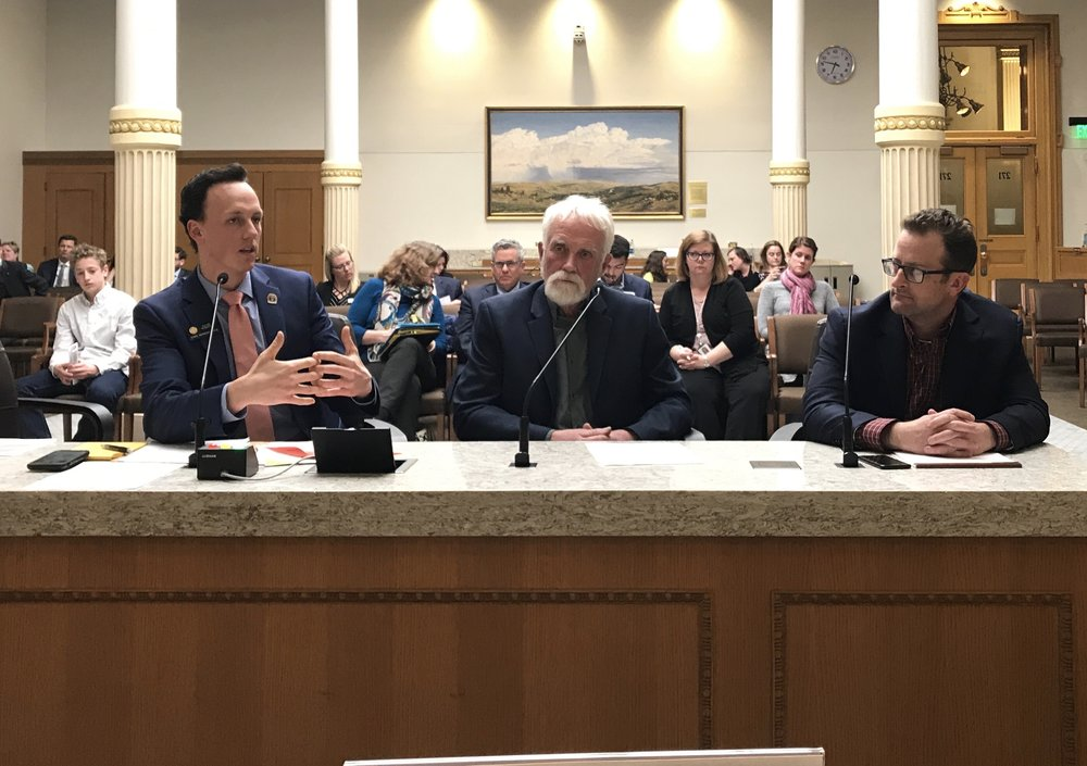 Rep. Roberts presents HB18-1205 to the House Health Committee with County Commissioners Wheelock (Clear Creek) and Cimino (Grand). The bill will help rural Coloradans who face increasing health insurance costs. It passed the committee on March 8, 2018 and heads to the House Appropriations Committee before a full vote on the House floor.