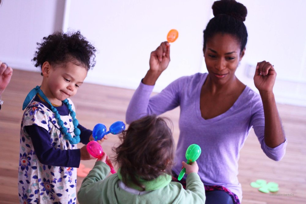 Rhythm + Movement - A combo creative movement and basic music class, introducing lil dumplins to movement and music dynamics, improvisation and Rhythmic patterns. This class encouraging self-confidence, creativity, body awareness and focus. Taught by Shirel Jones, owner of Lil' Dumplins. Ages 1.5 - 3 years old