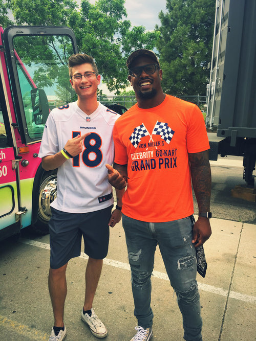 Brandon Pleiman (co-owner) and Von Miller (Super Bowl 50 MVP)