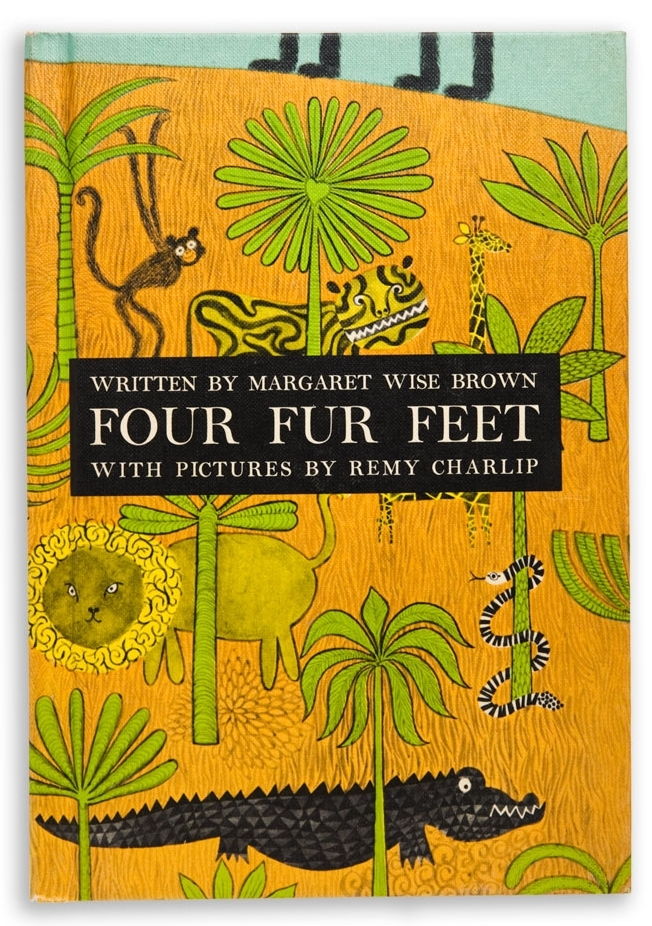 FOUR FUR FEET. Text by Margaret Wise Brown. Illustrated by Remy Charlip. Young Scott Books New York, NY. 1961; Dell Publishing, New York, NY. 1990