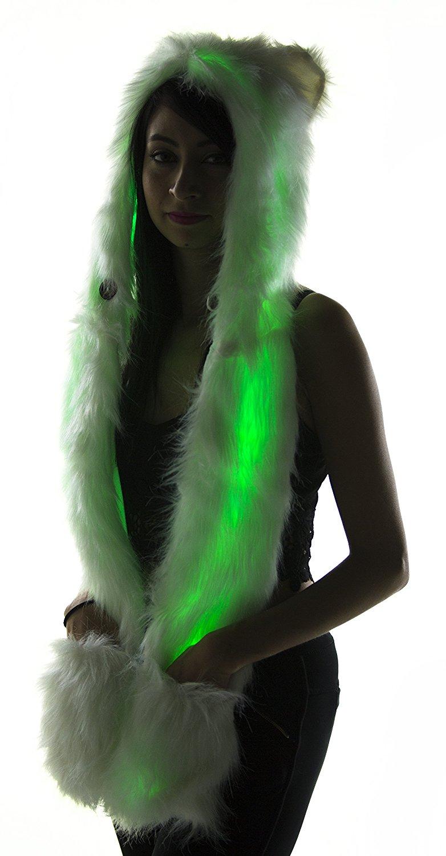 Furry LED Hood for Burning Man