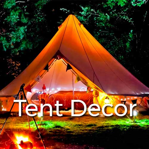Burning the Man Tent Decor