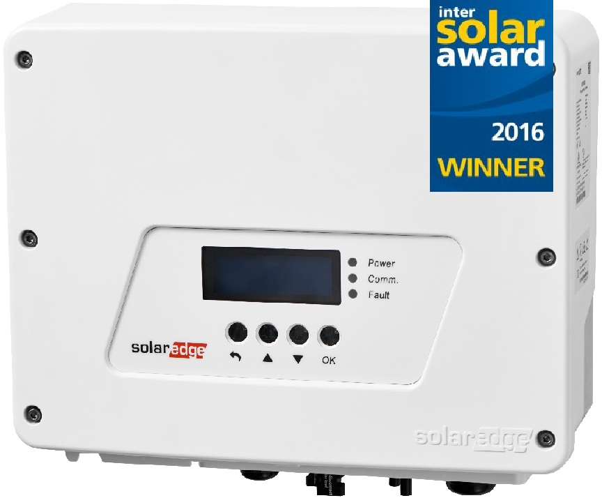 The award winning SolarEdge HD Wave Inverter.