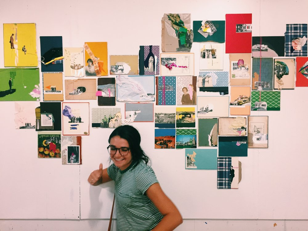 Morgan and her Collages By Meg Gramza