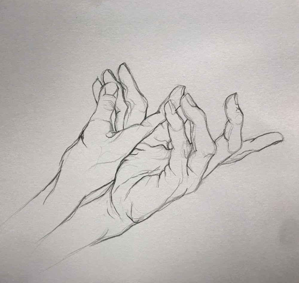 Graphite Hands by Dani