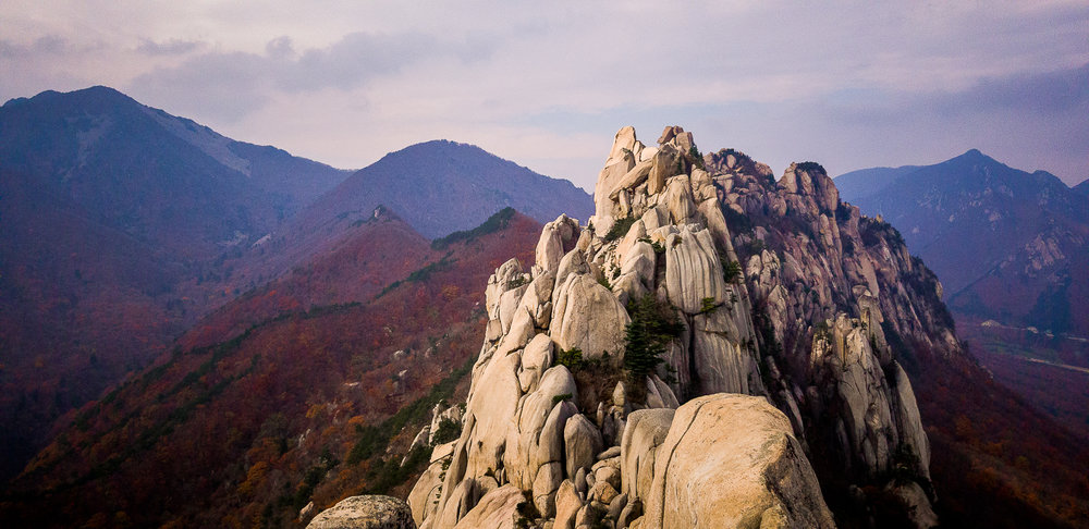 Ulanbawi Summit, Seoraksan N.P.South Korea - Captured in Pro Mode in RAW at F/1.7 | 1/4000 Sec | ISO 80