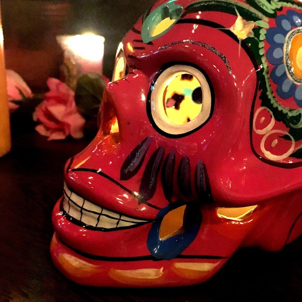 Mexican skull lantern