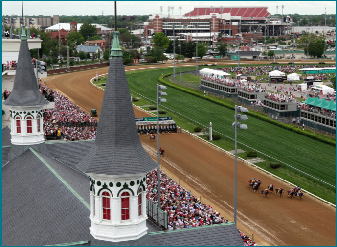 Churchill Down's historic Twin Spires