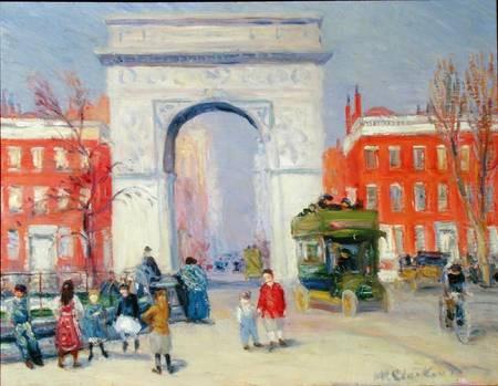 "Image by William J. Glackens "" Washington Square Park"""