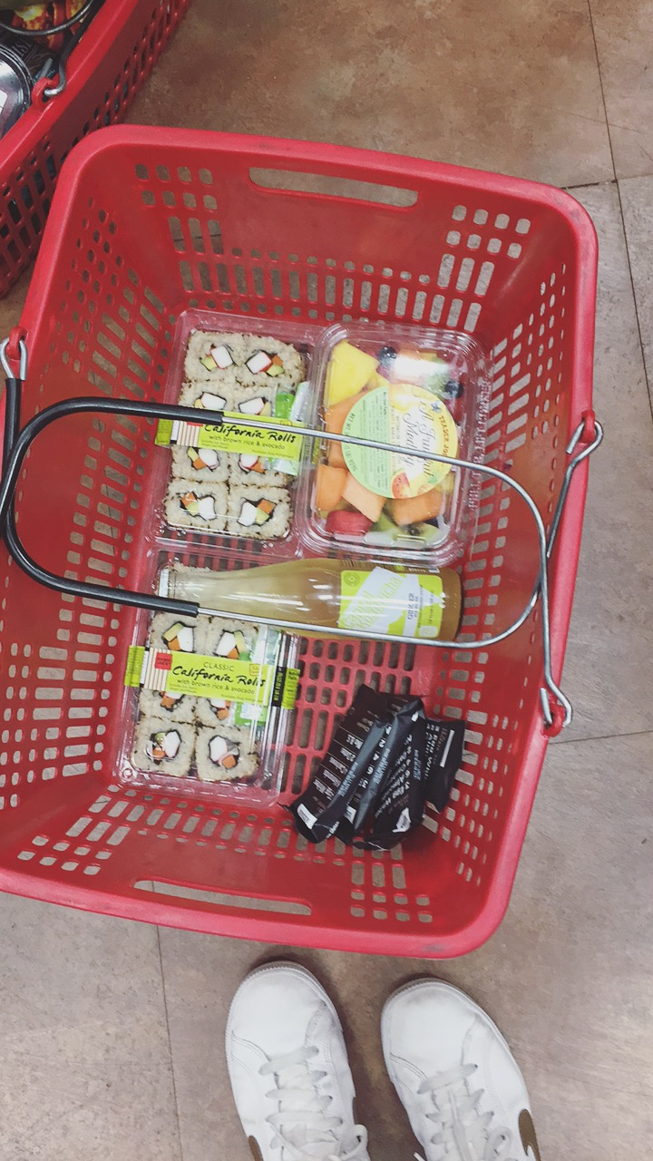 Our picnic haul from Trader Joe's this Sunday