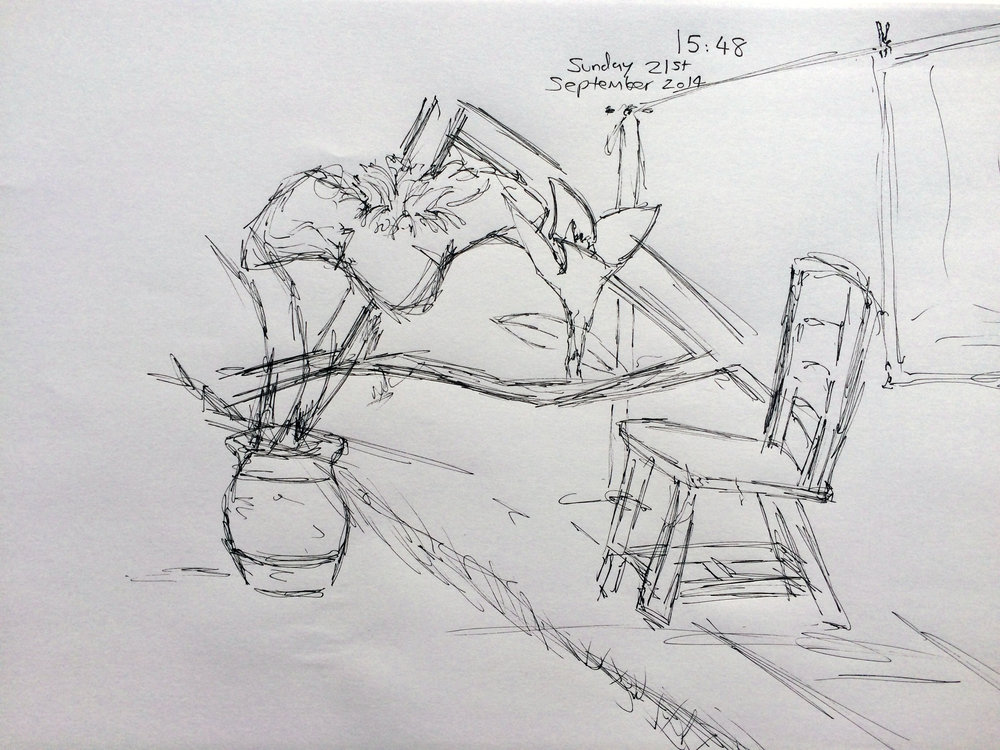 Anxiety Sketch Recovery (Garden)
