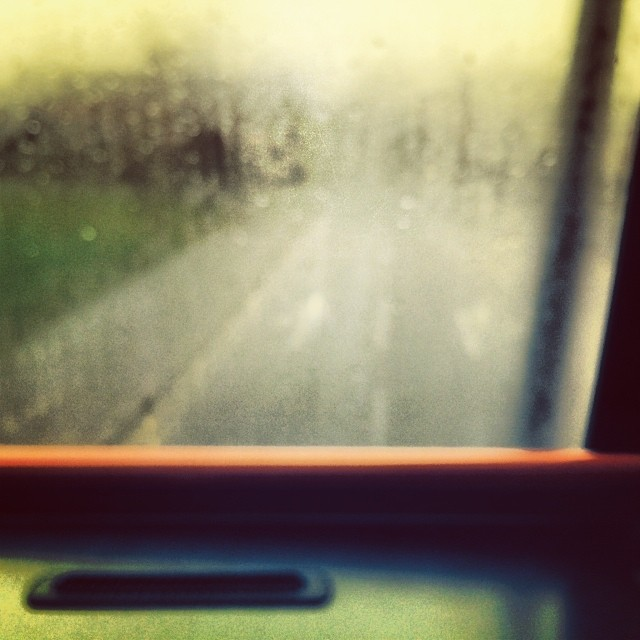 Wet and rainy bus journey
