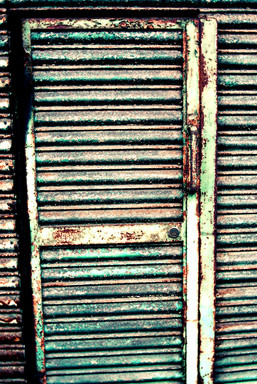 Rusty Green Door