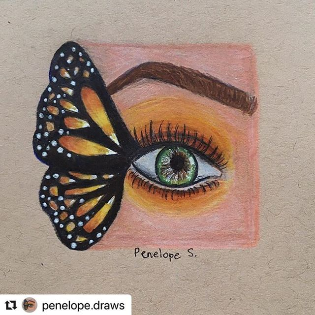 Fantasticly creative butterfly and eye by @penelope.draws  #Repost @penelope.draws with @make_repost ・・・ FIRST POST IN LIKE 2 MONTHS! Actually really proud of this and gonna be an active account again •• Collab with @arteyvibes and @kir.a.art 🦋🧡 •• REF- @itsvanbeauty 💛 ##drawing #draw #art #artist #artistic #artsy #artwork #penelopedraws #prismacolor #prismacolour #prisma #fineliner #copicmarkers #copic #copics #pencil #pencilart #instaart #artofinstagram @kristinawebb #lookkristina #featuremyart  #stageforartists @young_artists_help #artfeature #artfeaturehelp #repostmyart #butterfly #butterflyart #f4fartaccounts