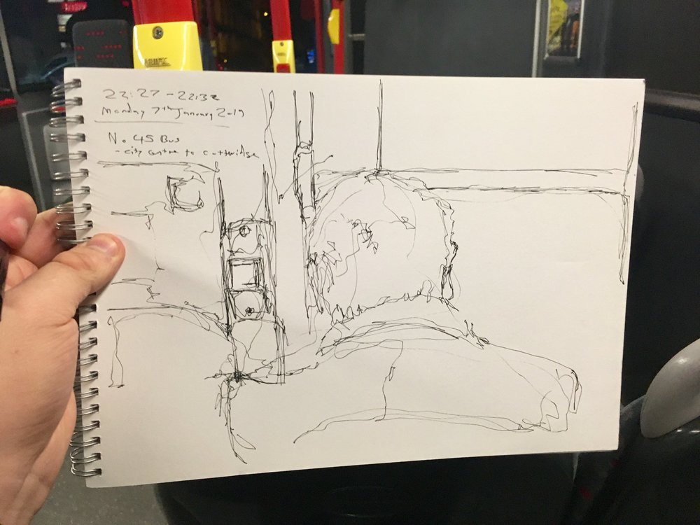 Continuous Bus Line Sketch on the 45 Bus, 7/1/2019