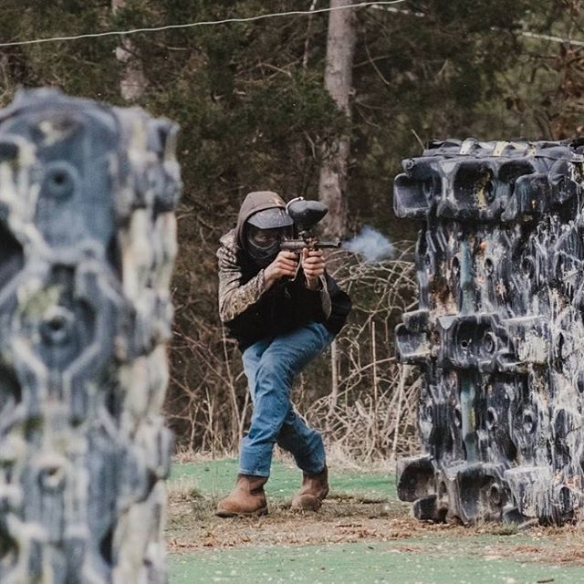 When it gets cold outside... Paintball gets smokin'