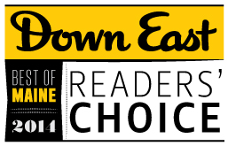 DownEast Magazine Reader's Choice 2014 Winner-Best B&B LimeRock Inn
