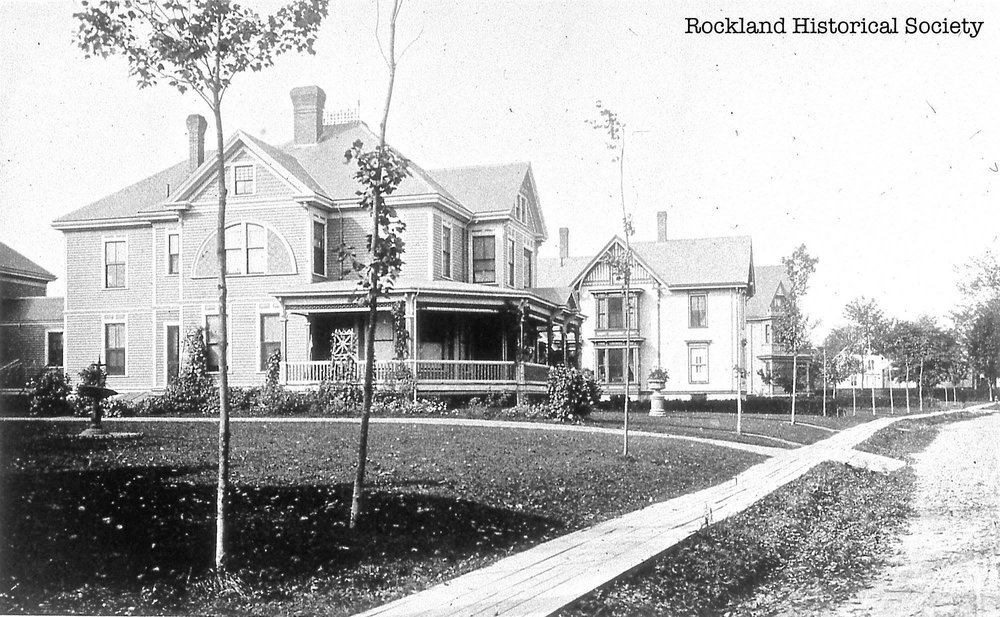 The house shortly after completion in 1892. Courtesy of  Rockland Historical Society .