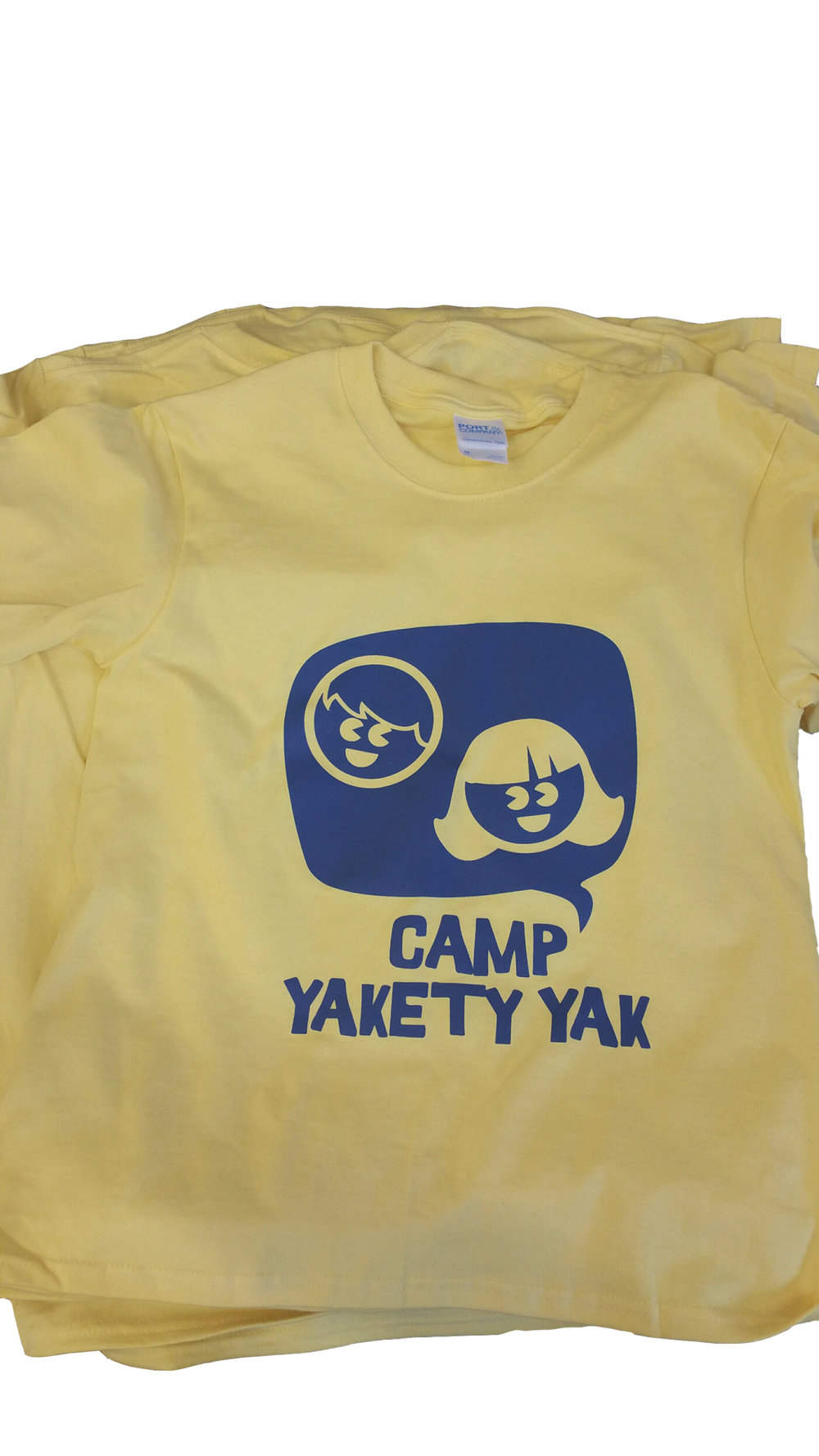 Tees for the campers at Camp Yakety Yak, Lake Oswego, 2017.