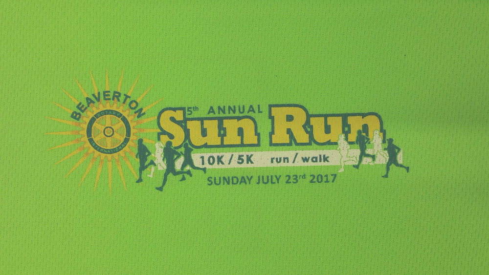 Athletic wear for the runners at the 2017 Beaverton Sun Run.