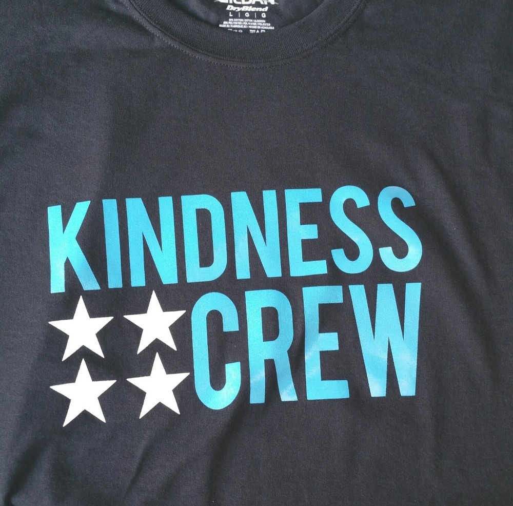 Kindness Crew Tee for the Be Kind Program. Available Now.