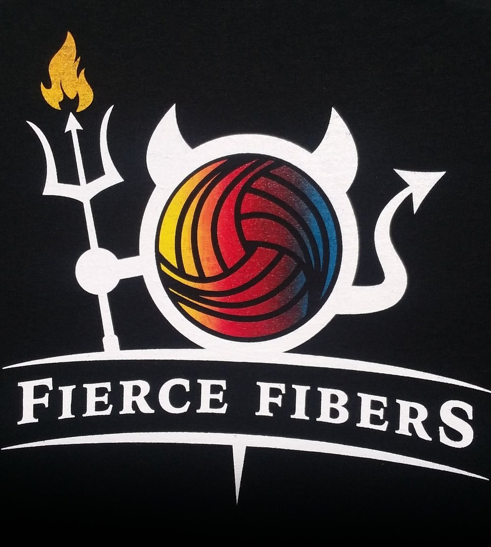 3 color gradient work for luxury fiber company Fierce Fibers.
