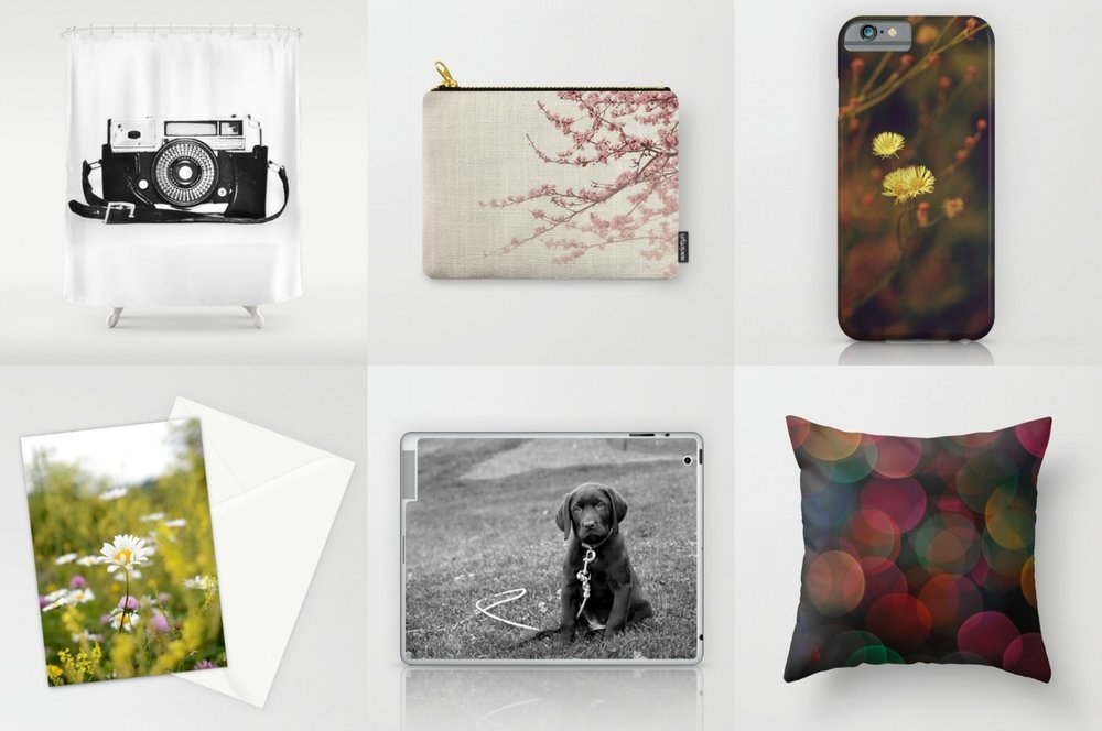 Product previews courtesy of Society6.