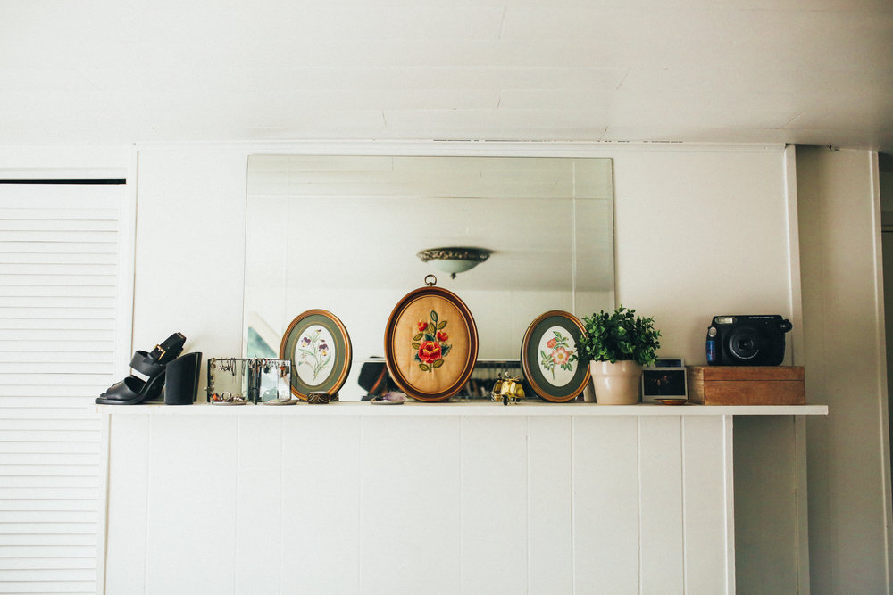 I basically use this shelf to display all my fun little knick-knacks!