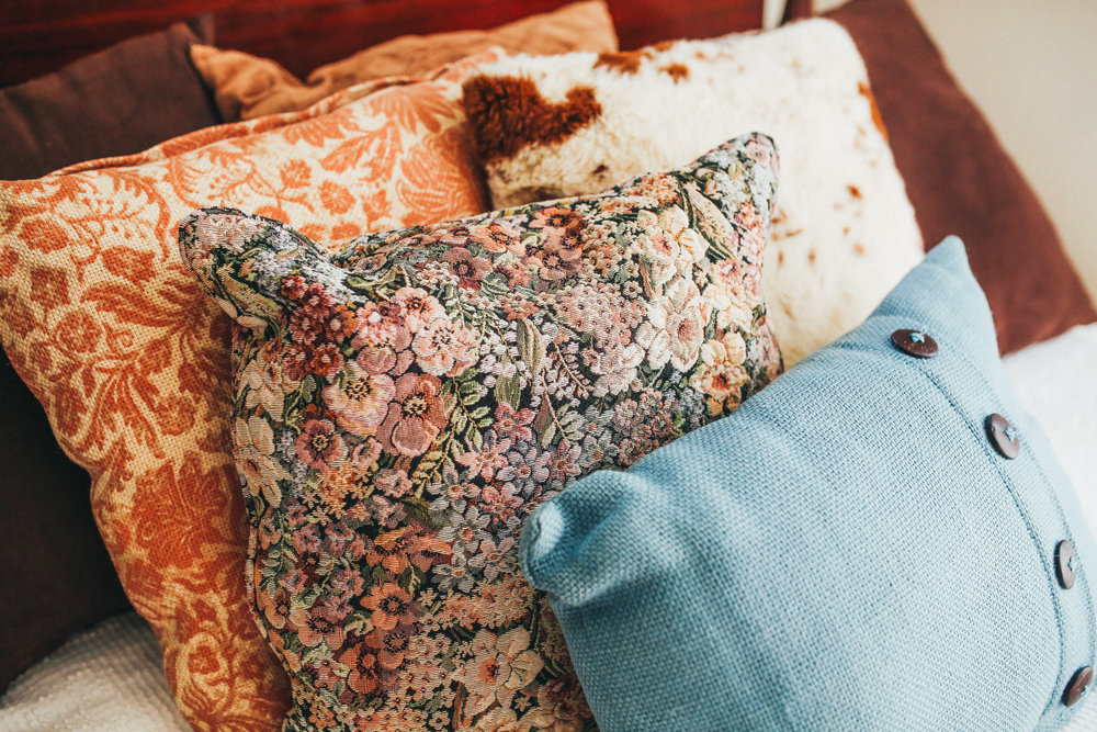 I love my mix-matched pillows!