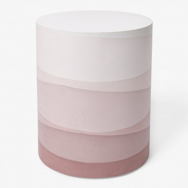 Cement Side Table, Blush
