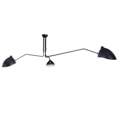 Three-Arm Ceiling Lamp, $375