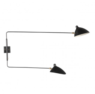 Rotating Wall Sconce - Two Arm Straight, $299