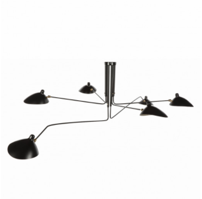 Six Arm Ceiling Lamp, $499
