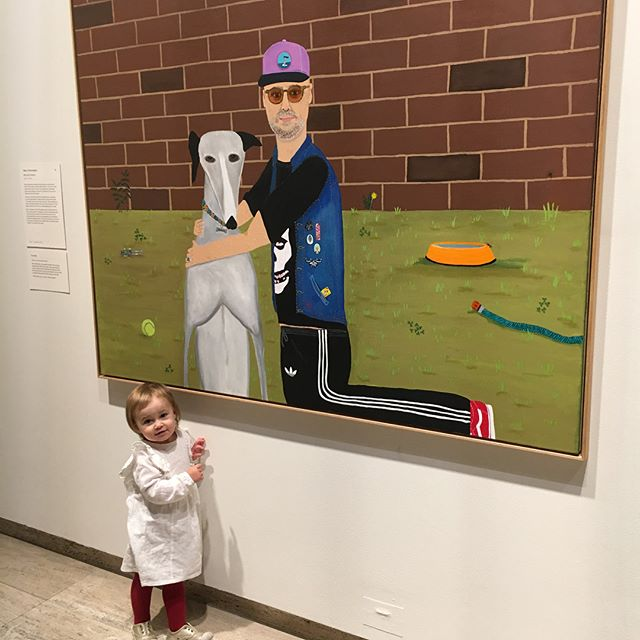 "She's got her own winner of the Archibald Prize 😂😂😂 This picture was a ""wow"" for Lilly. After all beauty is undefined ✌️🐒🤔 #archibaldprize #beauty #undefined #lovemygirls"