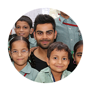 'I am proud to support the work of Justice and Care.  Its commitment to bring an end to slavery is vital and inspirational and so close to my heart.' - Virat Kohli