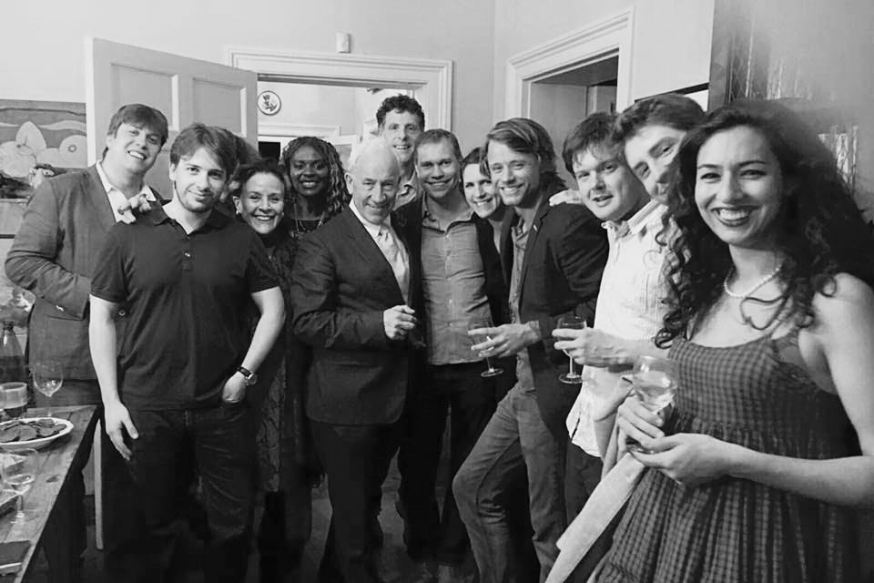 With Simon Callow and musicians after the successful launch of Conchord Festival 2016