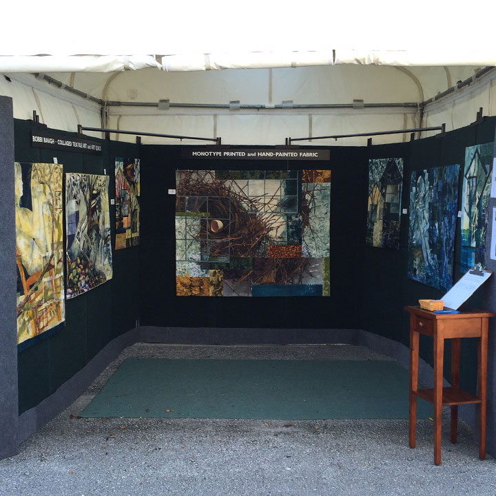 Here's my booth set-up at Winter Springs Art Festival. I was showing a number of new works for the first time.
