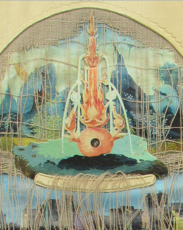 "The fountain. ""End of Eden"" Bobbi Baugh and John Lewis. 2014"