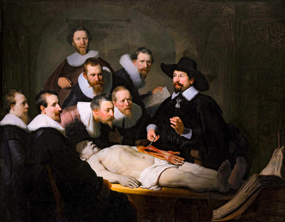 Rembrandt: Anatomy lesson of dr Nicolaes Tulp