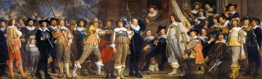 Bartholomeus van der Helst: Het Compagnie van kapitein Roelof Bicker en luitenant Jan Michielsz Blaeuw