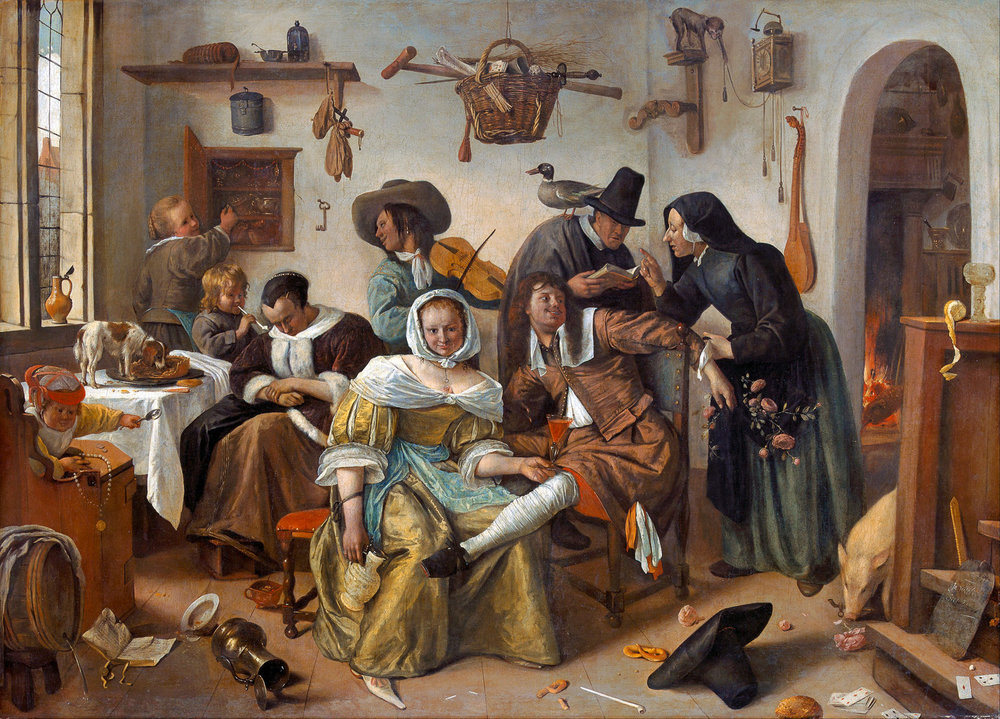 Jan Steen Beware of Luxury