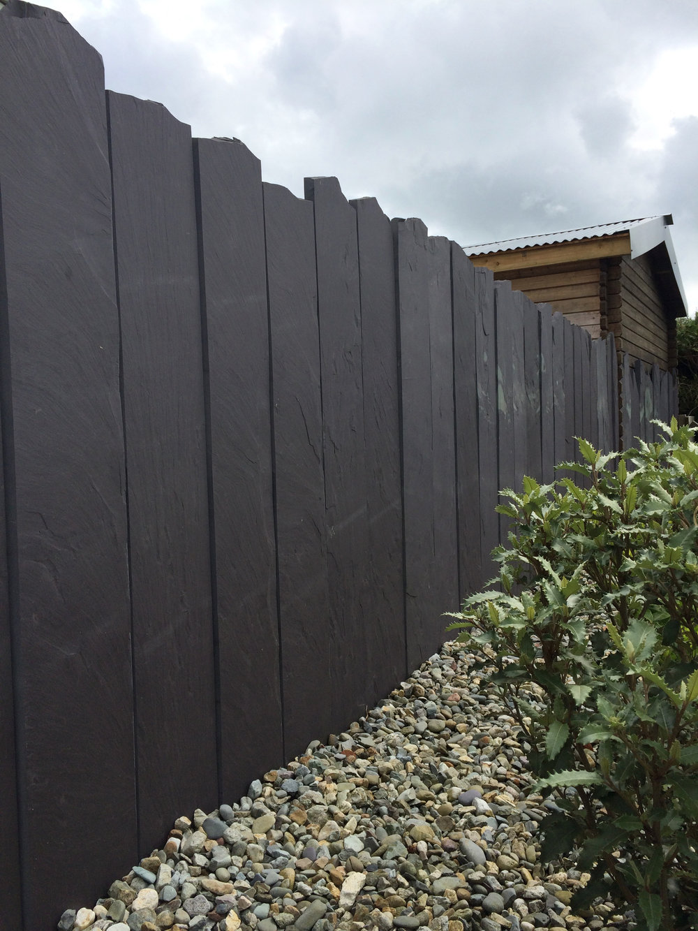 Welsh slate fencing