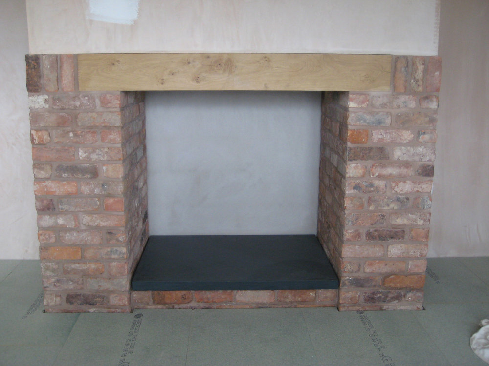 Polished Welsh slate fire hearth