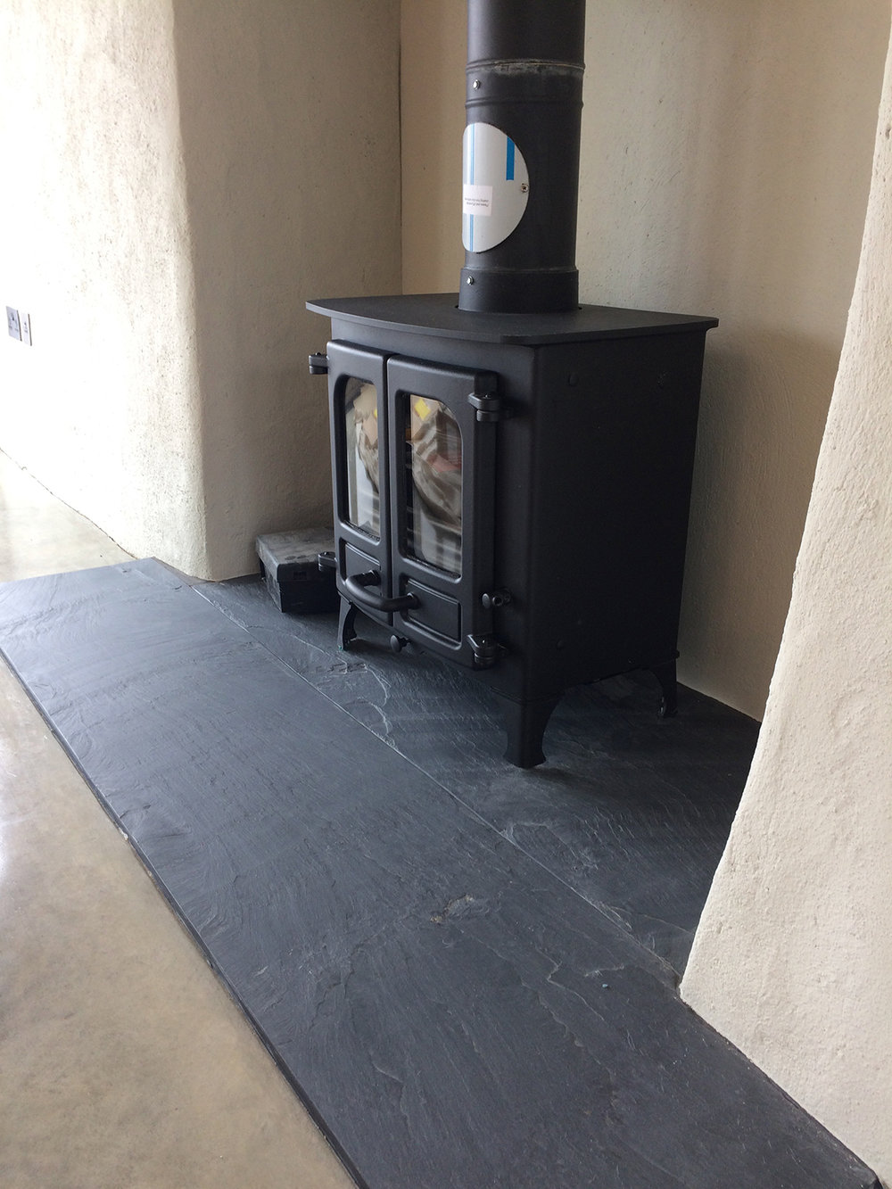 Riven Welsh slate hearth