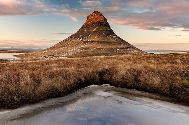 Kirkjufell is one of Iceland's most iconic mountains. Its symmetrical, tapering shape attracts photographers from around the world. Here is a different view.  #kirkjufell #snæfellsnes #iceland #landscape #landscapephotography #nature #naturephotography