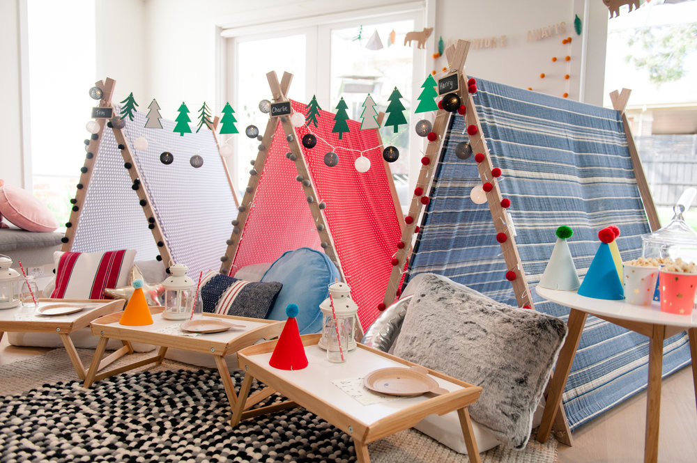 Adventure Awaits Teepee tent sleepover slumber parties Melbourne