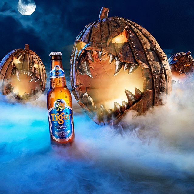 Tiger Beer 'Halloween Pumpkins' #photoshop #retouching #photography #behance