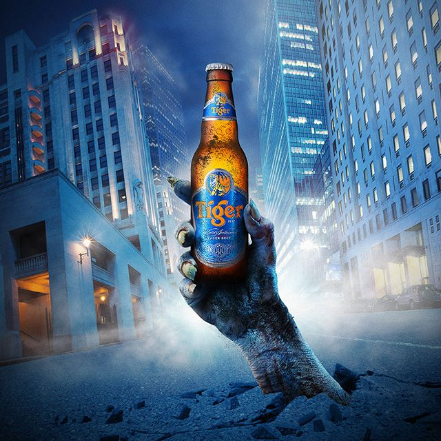 Tiger Beer 'Zombies City' #photoshop #retouching #photography #behance