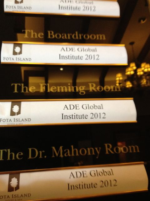 ADE2012 welcome plaque
